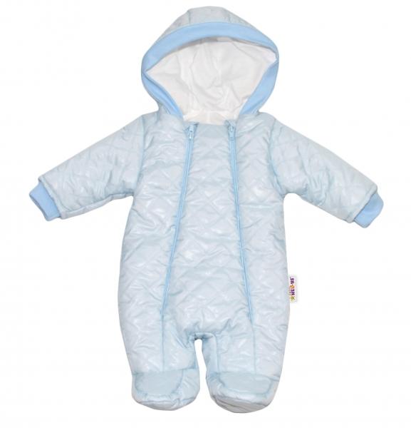 Kombinézka s kapuci Lux Baby Nellys ®prošívaná - sv. modrá, Velikost: 56 (1-2m)