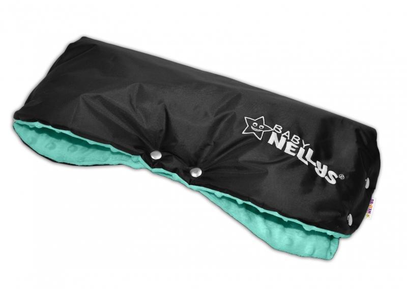 Rukávník ke kočárku Baby Nellys ® minky - máta/černý