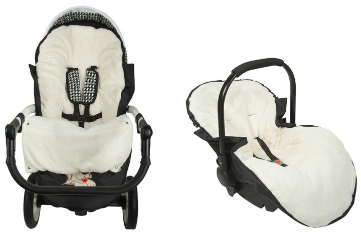 Fusák Delux Baby Nellys ® s kožešinkou 105x50cm - hnědý