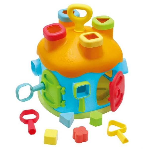 Eco toys Edukační hračka interaktivní domeček - vkládačka