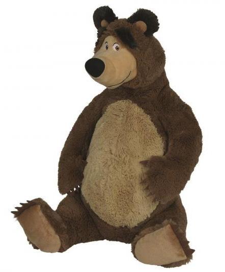 Plyšový medvěd 50 cm sedící - Máša a medvěd