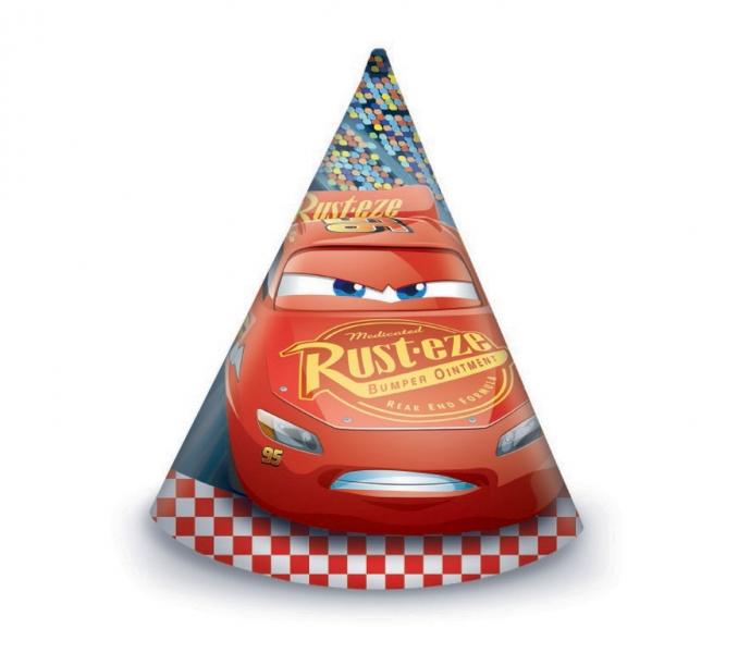 Rappa PROCOS klobouk papírový Cars 6 ks