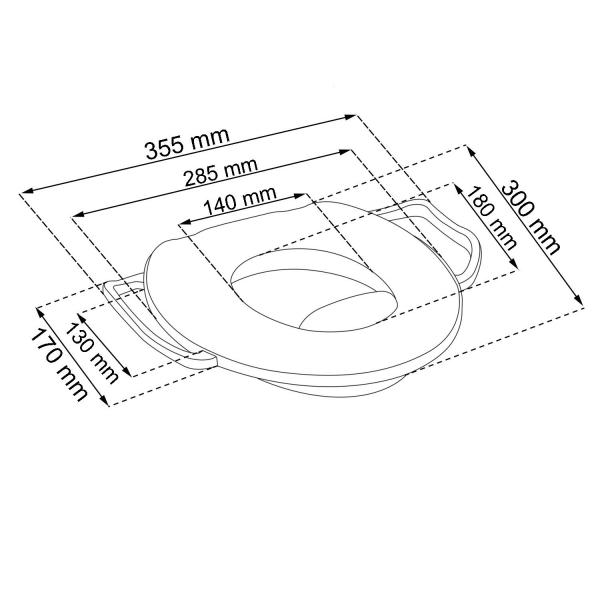 Keeeper Adaptér - Mini treningové sedátko na toaletu Medvídek Pú