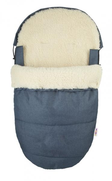 Fusák Delux Baby Nellys ® 105x50cm Vlna - jeans
