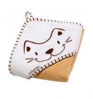 BabyOno Luxusní froté osuška s kapucí - Kočka