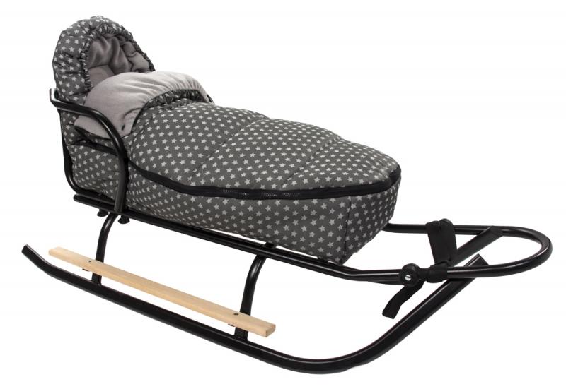 Baby Nellys ® Fusák Maxi 105x50cm - hvězdičky Stars - tmavě šedé