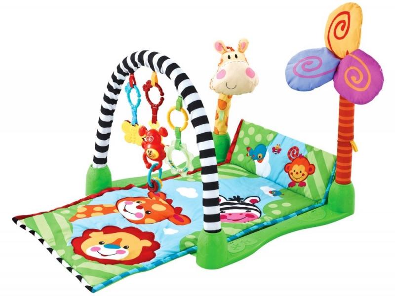 Vzdělávací hrací deka, 88x54x58cm  ECO TOYS - Žirafka