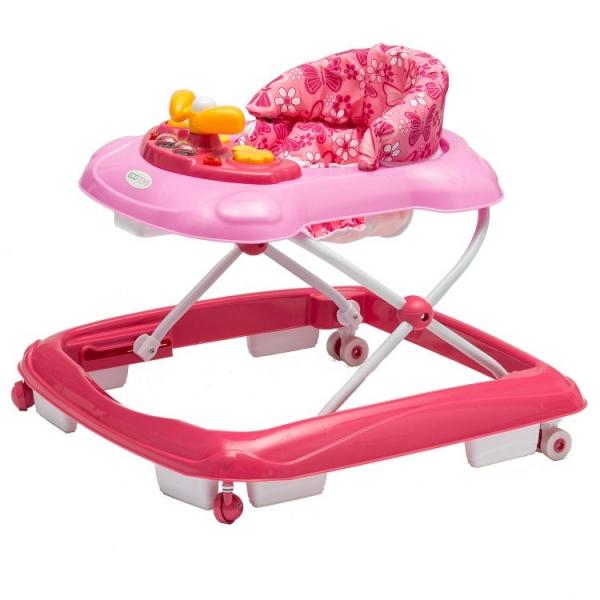 Dětské chodítko ECO TOYS - růžové