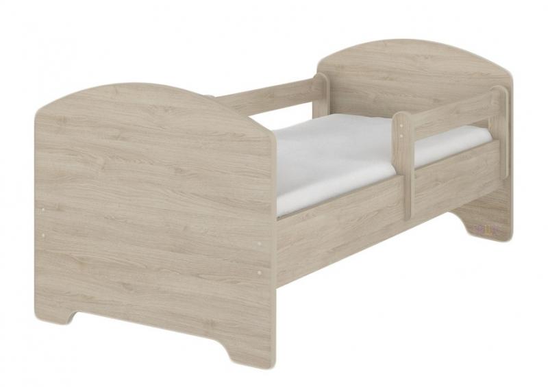 Dětská postel HELI v barvě světlý dub + matrace zdarma - 160x80