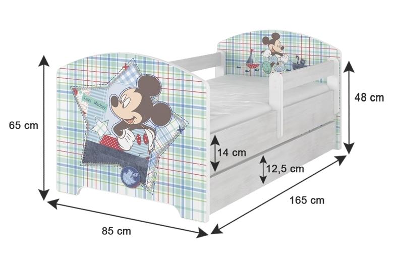 NELLYS Dětská postel SABI v barvě světlý dub + matrace zdarma - 160x80, D19