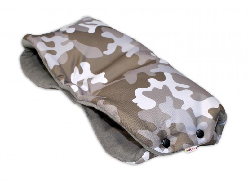 Rukávník ke kočárku Baby Nellys ® flees - Army béžový maskáč