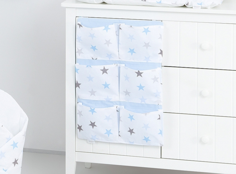 Mamo Tato Kapsář 40 x 65 cm - Hvězdičky modré, šedé