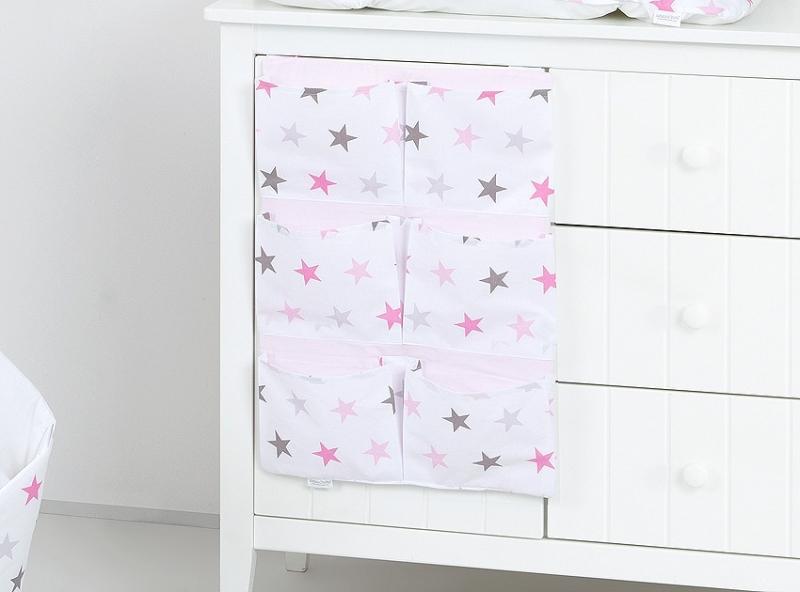 Mamo Tato Kapsář 40 x 65 cm - Hvězdičky růžové a šedé