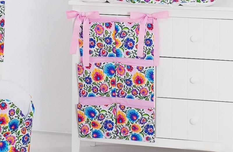 Kapsář 40 x 65 cm - Květiny růžové