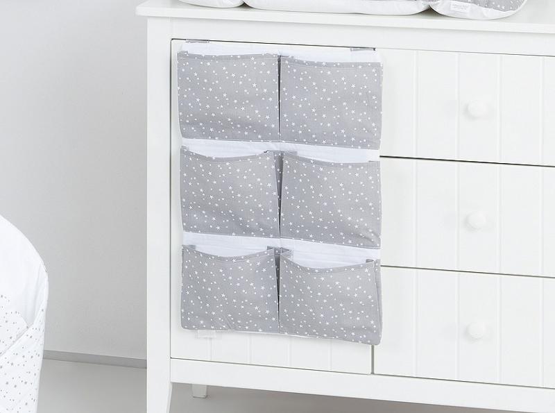 Mamo Tato Kapsář 40 x 65 cm - Mini hvězdičky bílé na šedém podkladu