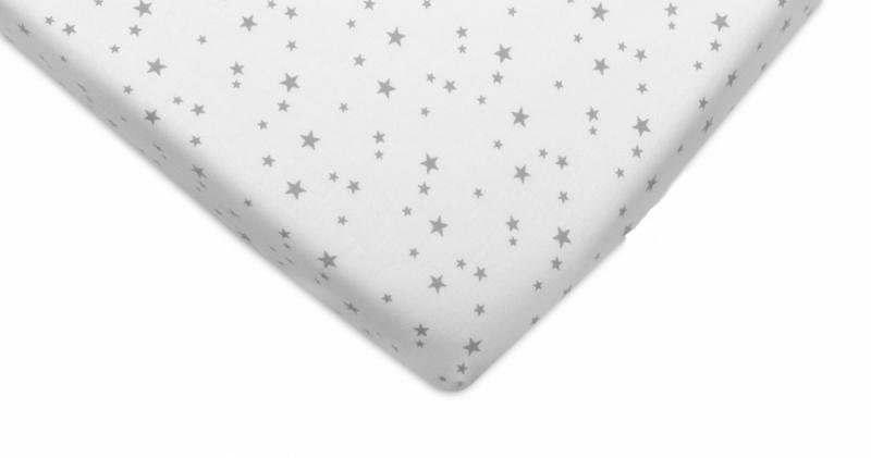 Mamo Tato Bavlněné prostěradlo 60x120cm - Mini hvězdičky šedé