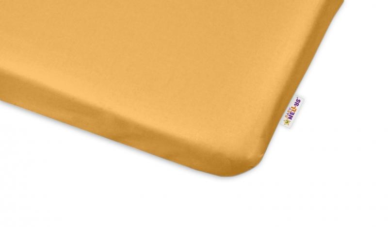 Bavlněné prostěradlo 60x120cm - medová