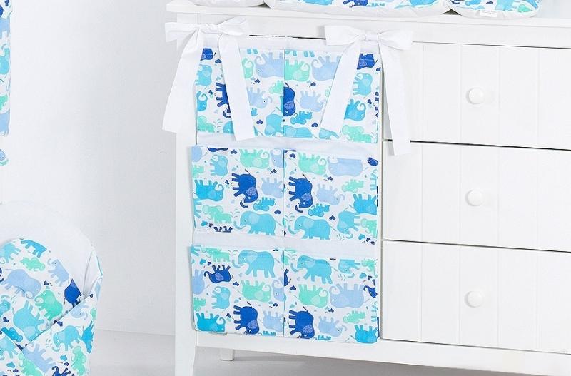 Kapsář 40 x 65 cm - Sloníci modří