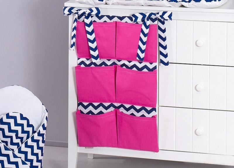 Mamo Tato Kapsář 40 x 65 cm - Zigzag tm. modrý/tm. růžová