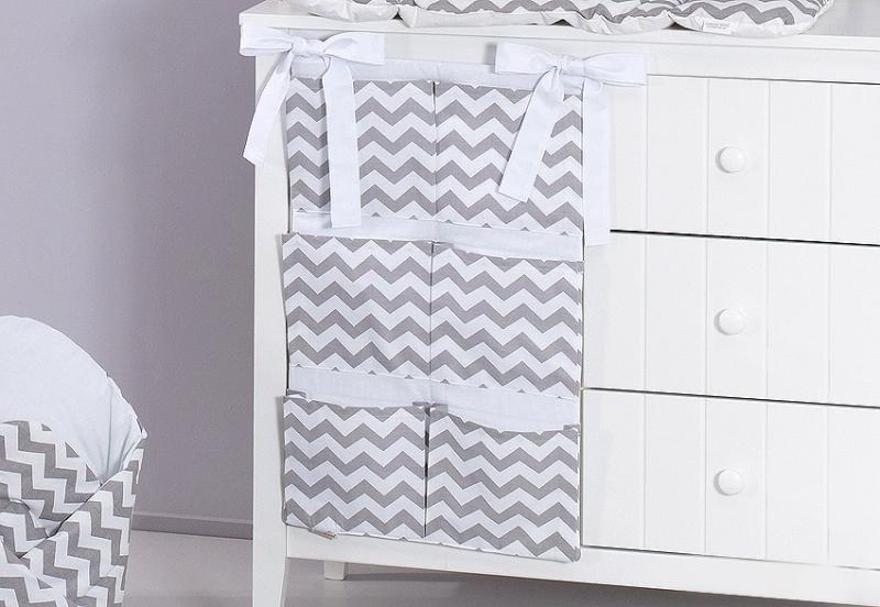 Mamo Tato Kapsář 40 x 65 cm - Zigzag šedý