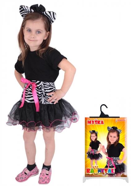 Sada zebra - sukně + čelenka