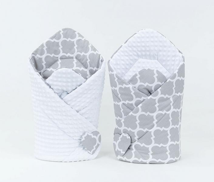 Mamo Tato Oboustranná zavinovačka Minky Baby - Maroko šedé/bílá