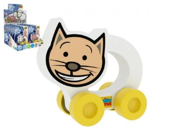Moje první autíčko Kočička pěna 8,5x8cm na kartě 10ks v boxu 0+(lze mixovat s ostatní