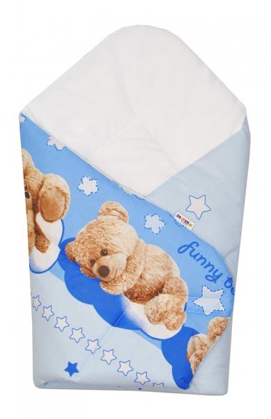 Novorozenecká zavinovačka Medvídek hvězdička - modrá