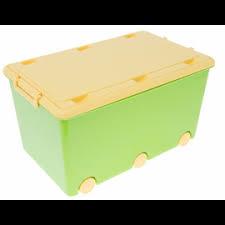 Dětský úložný box na kolečkách - zelený