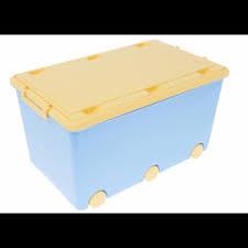 Dětský úložný box na kolečkách - modrý