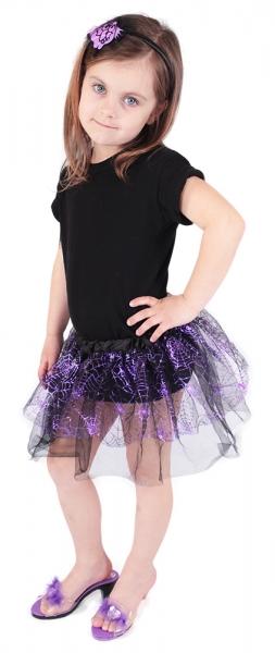 Dětská sukně Čarodějnice s čelenkou