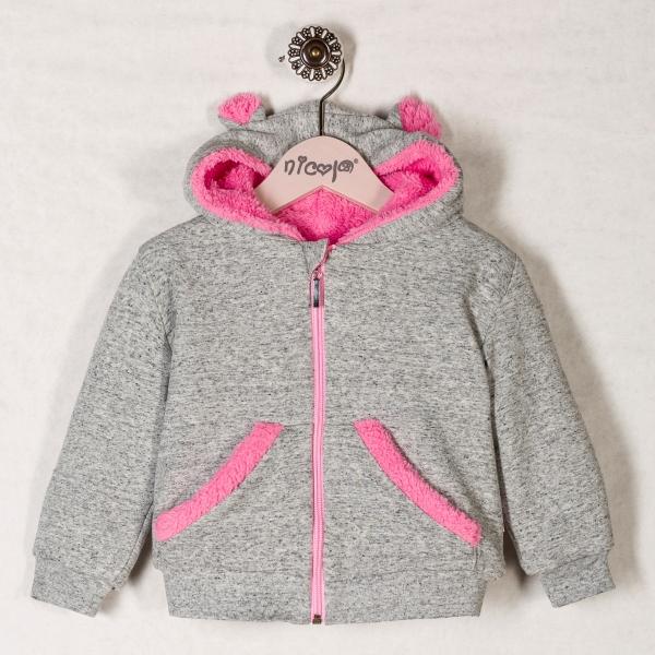 Mikinka s kapucí PLAMEŇÁK -  s kožíškem, roz. 86