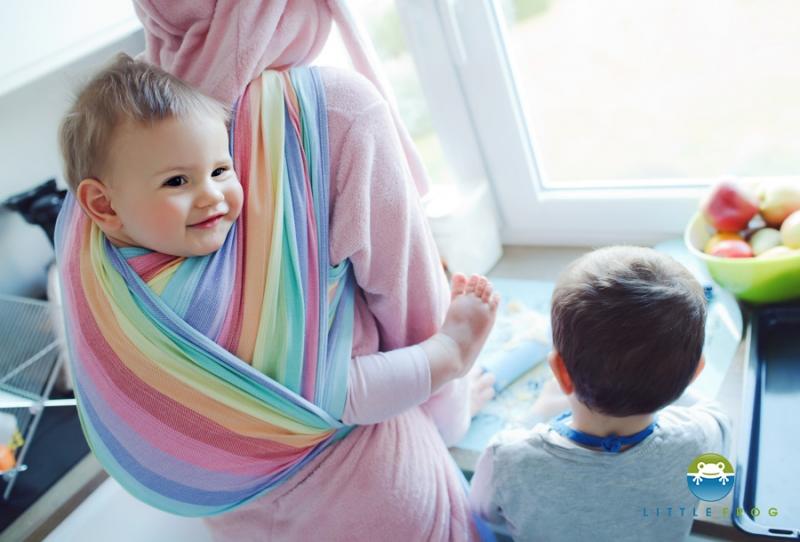 Little FROG Tkaný šátek na nošení dětí - Spectrolite