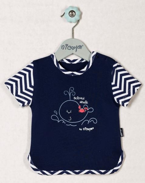 Bavlněné tričko OCEÁN - krátký rukáv, roz. 68, Velikost: 68 (4-6m)