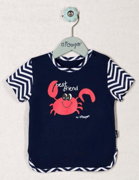 Bavlněné tričko OCEÁN - krátký rukáv, roz. 92, Velikost: 92 (18-24m)