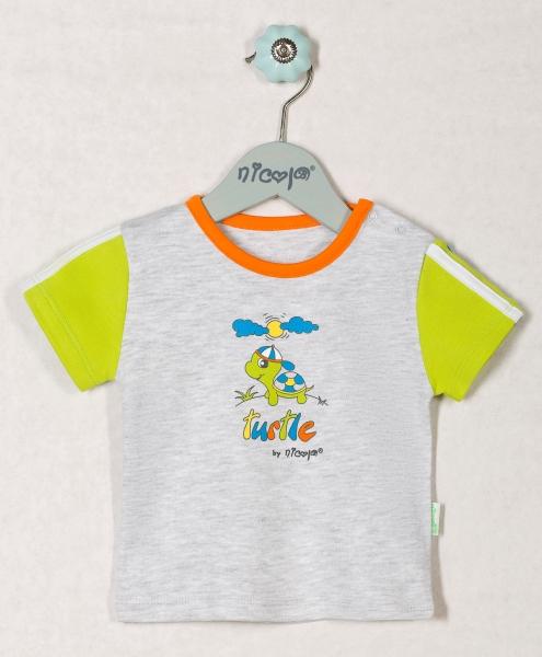 Bavlněné tričko ŽELVIČKA - krátký rukáv, roz. 62