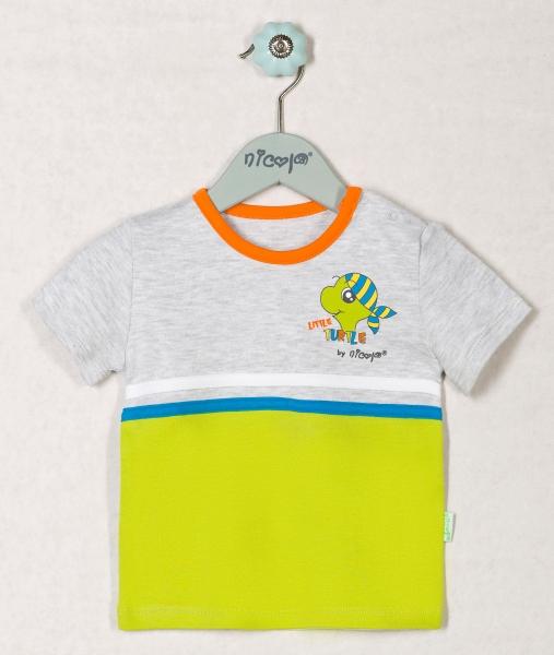 Bavlněné tričko ŽELVIČKA - krátký rukáv, roz. 74