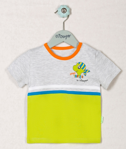 Bavlněné tričko ŽELVIČKA - krátký rukáv, roz. 86