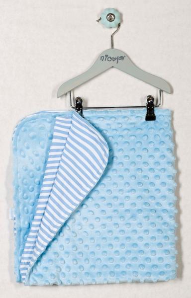 Dětská deka, dečka KOTVIČKA PROUŽEK 75x75 - MINKY, bavlna
