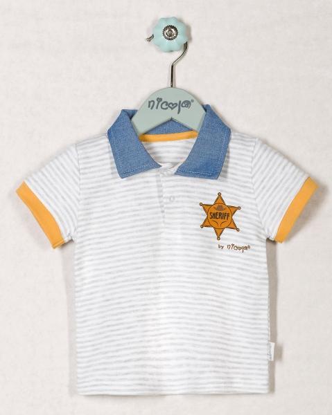 Bavlněné tričko WESTERN - krátký rukáv , roz. 62, Velikost: 62 (2-3m)