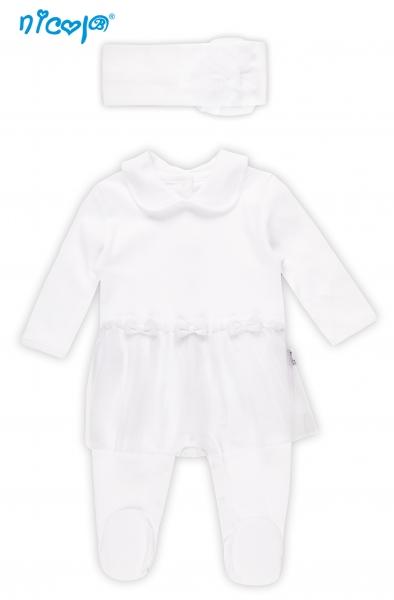 Sada kojenecký overálek + čelenka EXCELLENT GIRL, roz. 68