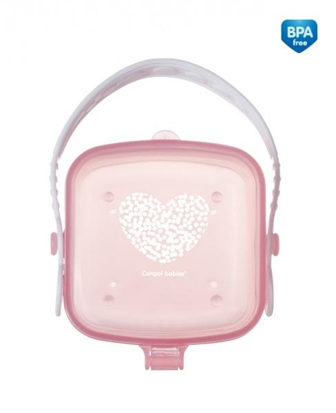 Canpol babies Pouzdro na dudlík Srdíčko - růžové