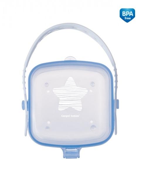 Canpol babies Pouzdro na dudlík Hvězdíčka - modré