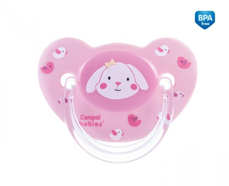 Dudlík Sweet Fun 6-18m B - růžový, savička - zkosená