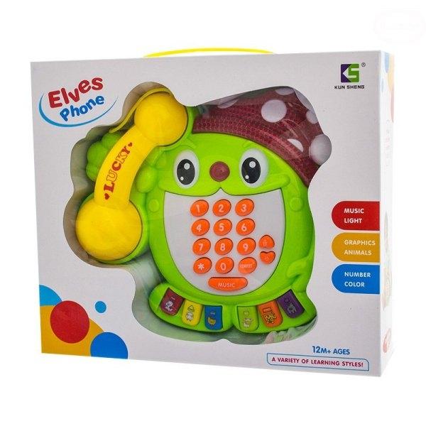 Edukační hračka Telefon - Skřítek - zelený