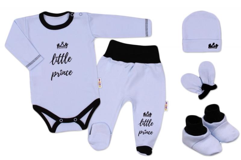Baby Nellys 5-ti dílná soupravička do porodnice Princ - modrá