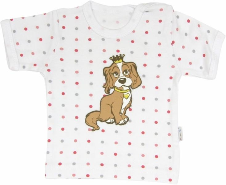 Bavlněné tričko Pejsek - krátký rukáv,  roz. 98, Velikost: 98 (24-36m)