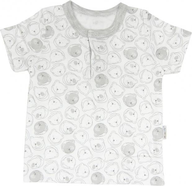 Bavlněné tričko/polo Veselí medvídci - krátký rukáv, Velikost: 68 (4-6m)