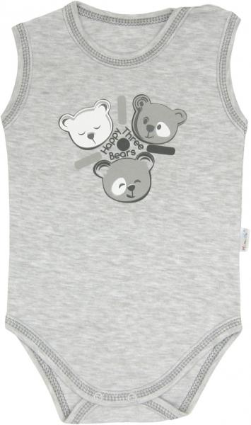 Body Veselí medvídci - na ramínka, roz. 80, Velikost: 80 (9-12m)