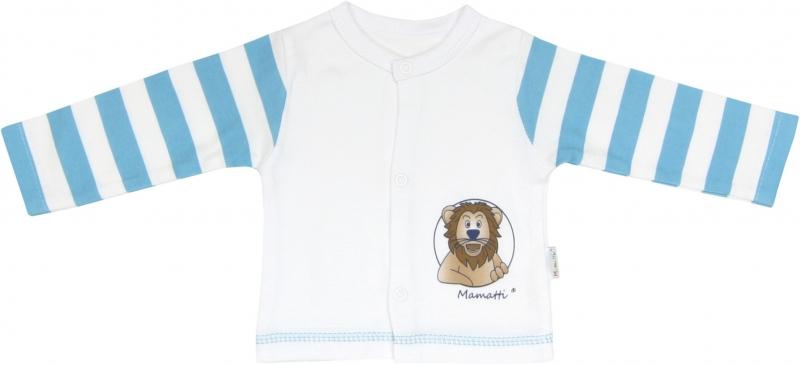 Bavlněná košilka Lev proužek, roz. 62, Velikost: 62 (2-3m)